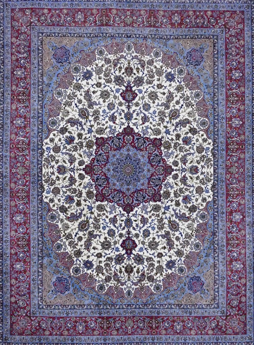 Fine Persian Isfahan Room Size Oriental Rug 10'x14'. Ex