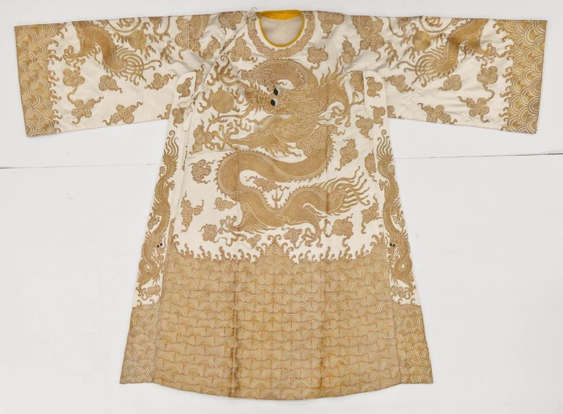 Chinese Dragon Gold Thread Silk Theater Robe