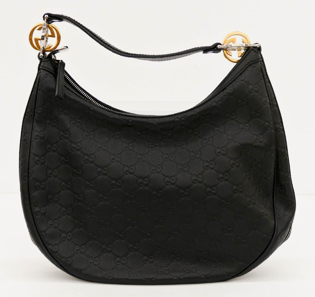 7b0b1a946 Gucci Guccissima GG Twins Hobo Black Leather Handbag - May 31, 2018 | MBA  Seattle Auction in WA