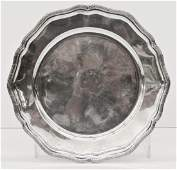 Antique Swedish Sterling Silver Charger 14 Diameter