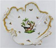 Herend Rothschild Bird Large Shell Dish 105x12