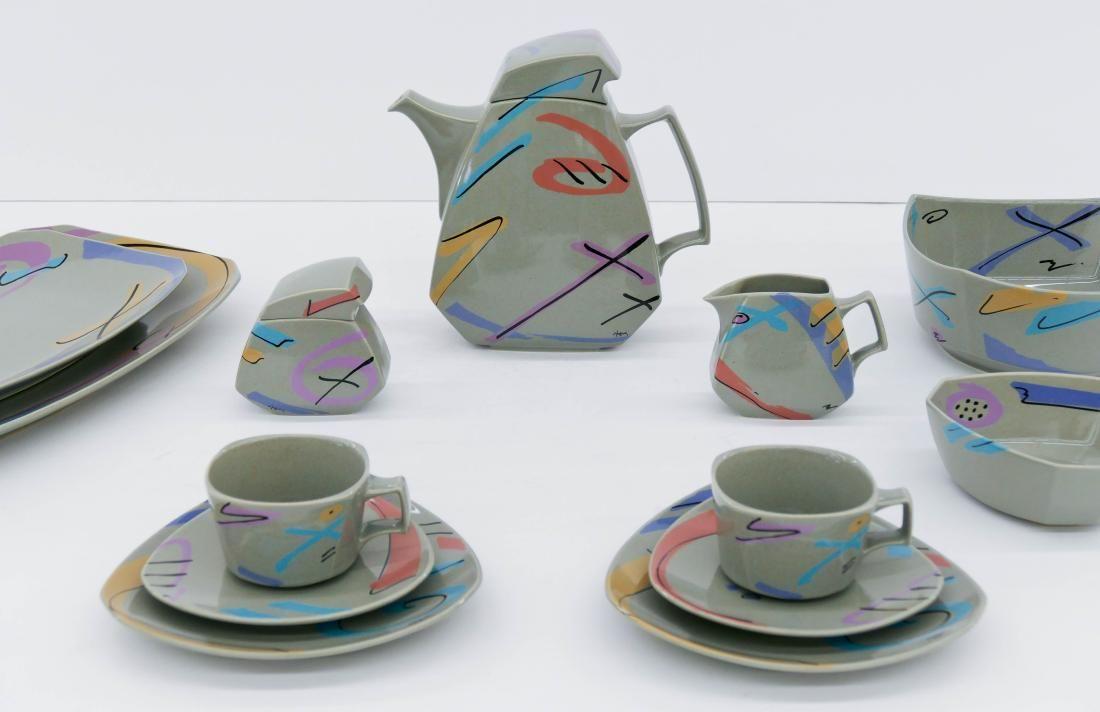 15pc Rosenthal ''Flash'' Memphis Style Porcelain Tea