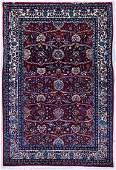 Fine Persian Floral Oriental Rug 4'x6'. Ivory ground