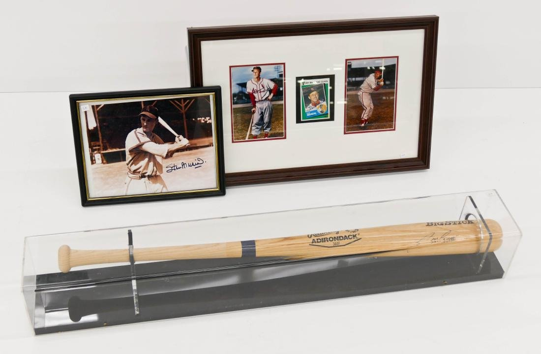3pc Professional Baseball Autographed Items. Includes a