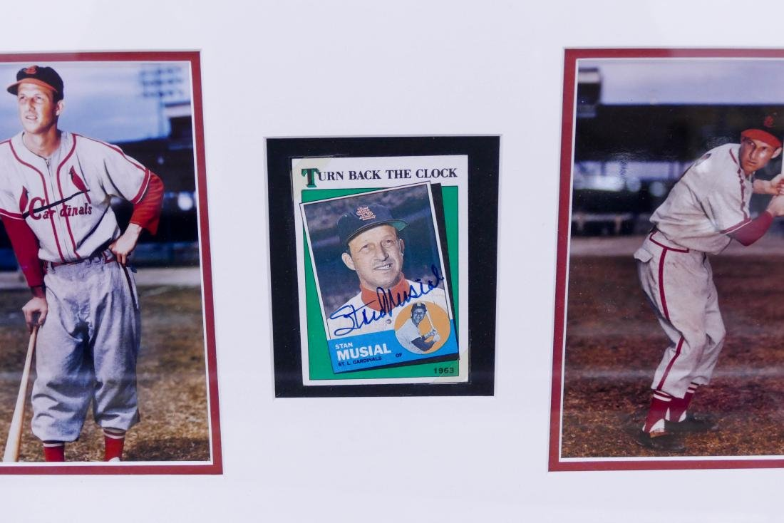 3pc Professional Baseball Autographed Items. Includes a - 2