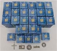 109pc Hand & Hammer Blue Box Sterling Christmas