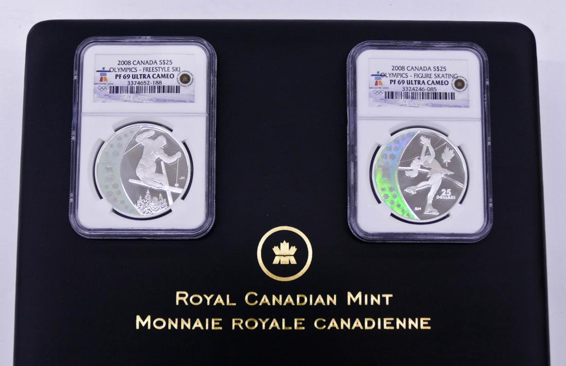 2008 $25 Canada Olympics NGC PF69 Coin Set in - 2