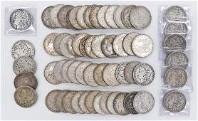 59pc US Morgan Silver Dollars Assorted Dates Includes