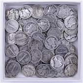 94pc US Mercury Silver Dimes Assorted Dates. Includes
