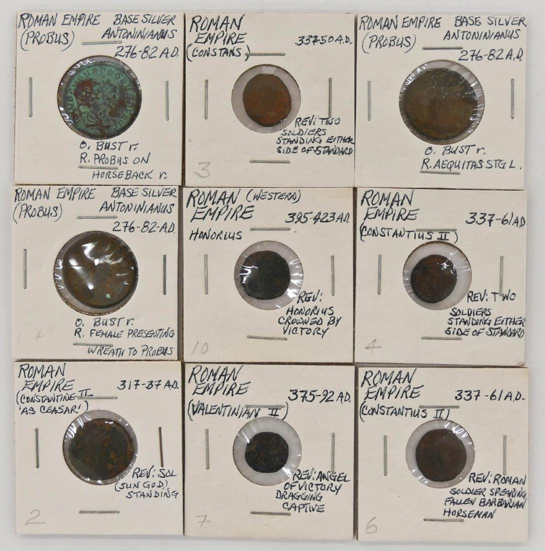 45pc Ancient Roman Empire & India Coins. Includes (39) - 3