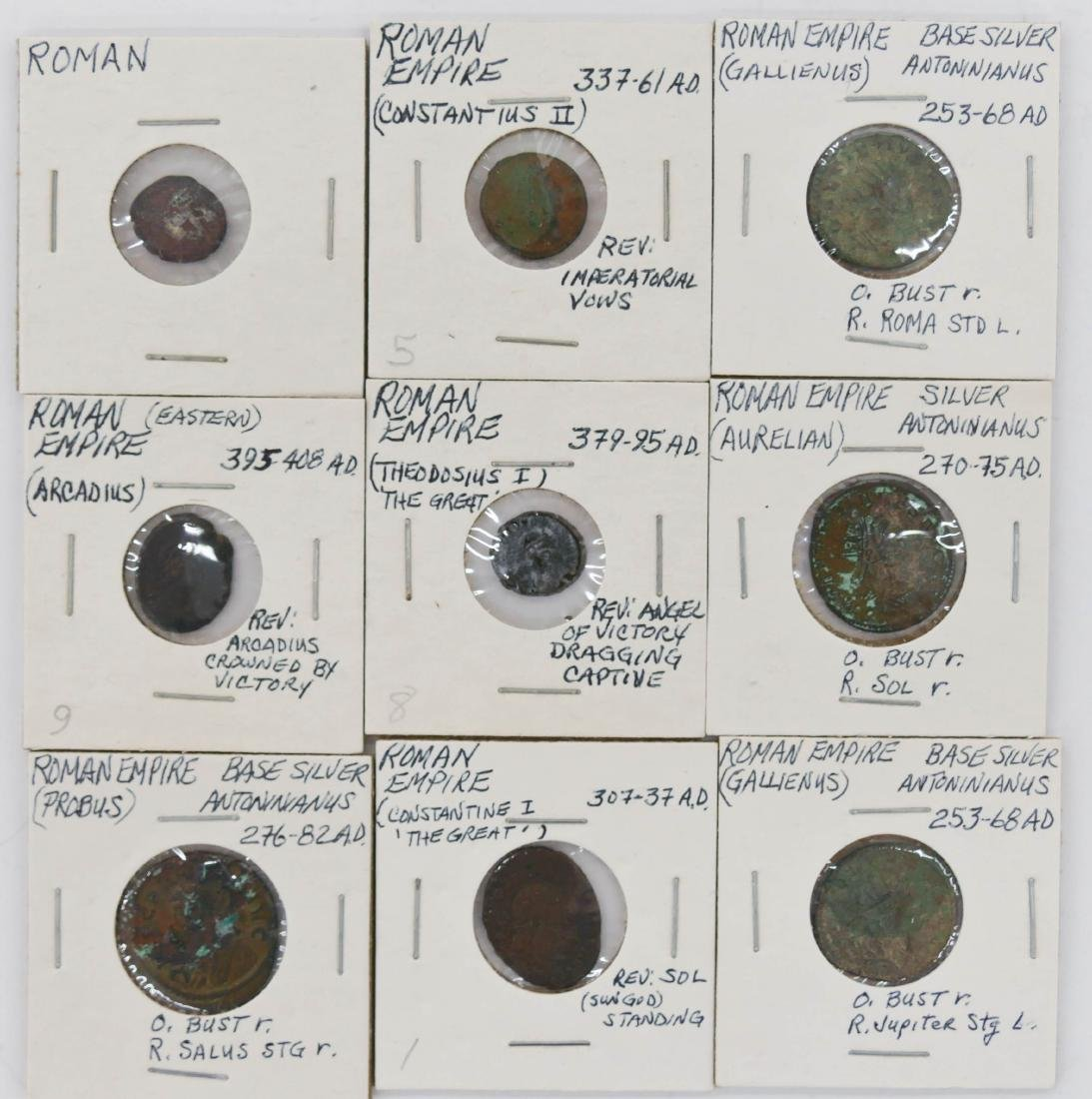 45pc Ancient Roman Empire & India Coins. Includes (39) - 4