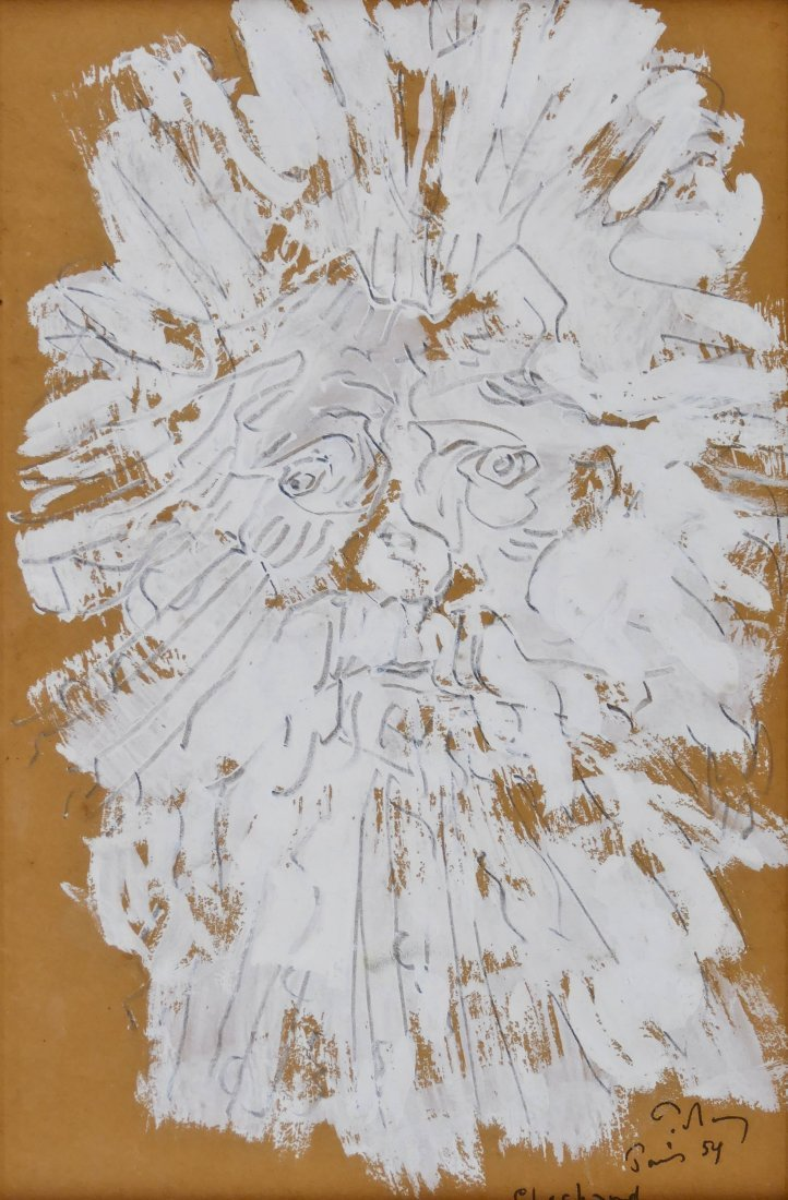 "Mark Tobey (1890-1976 American) ""Chochard"" 1954"