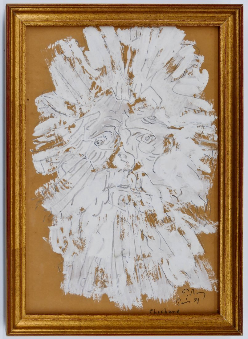 "Mark Tobey (1890-1976 American) ""Chochard"" 1954 - 2"