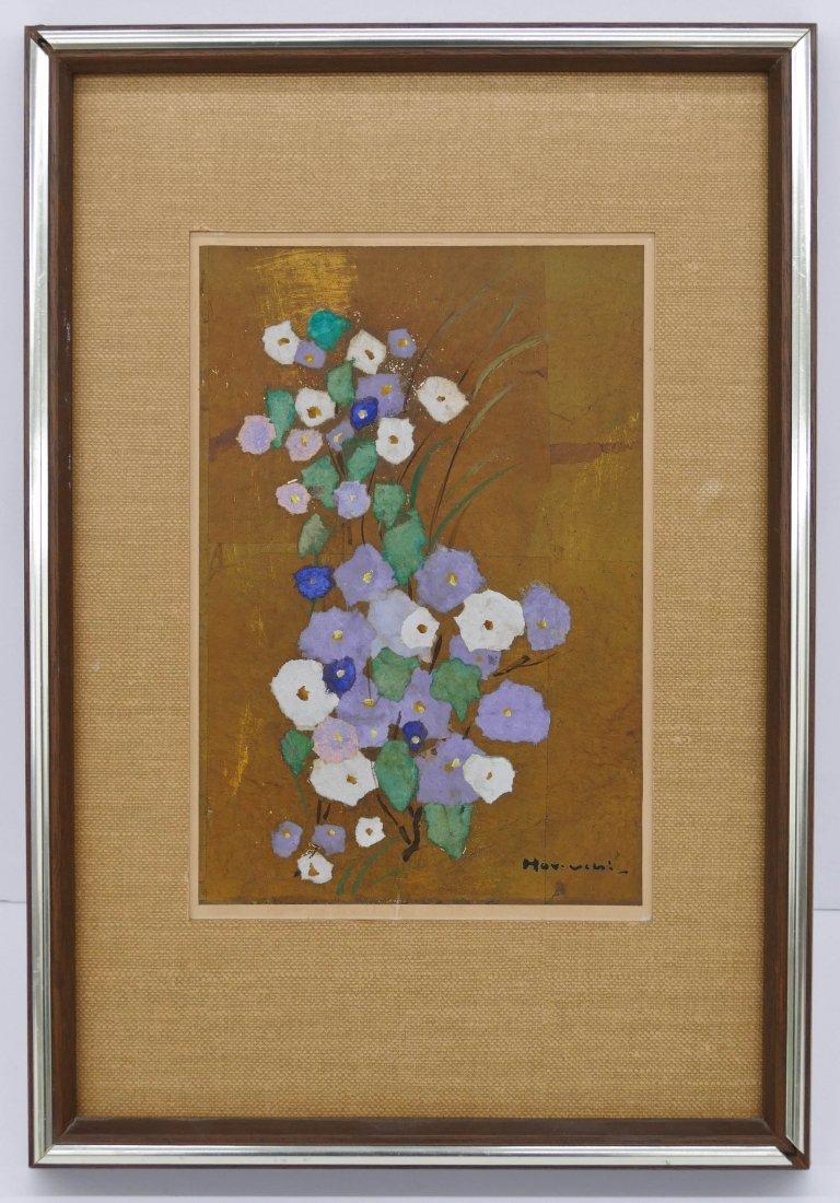 """Paul Horiuchi (1906-1999 Washington) """"Flowers"""" 1975 Cas - 2"""