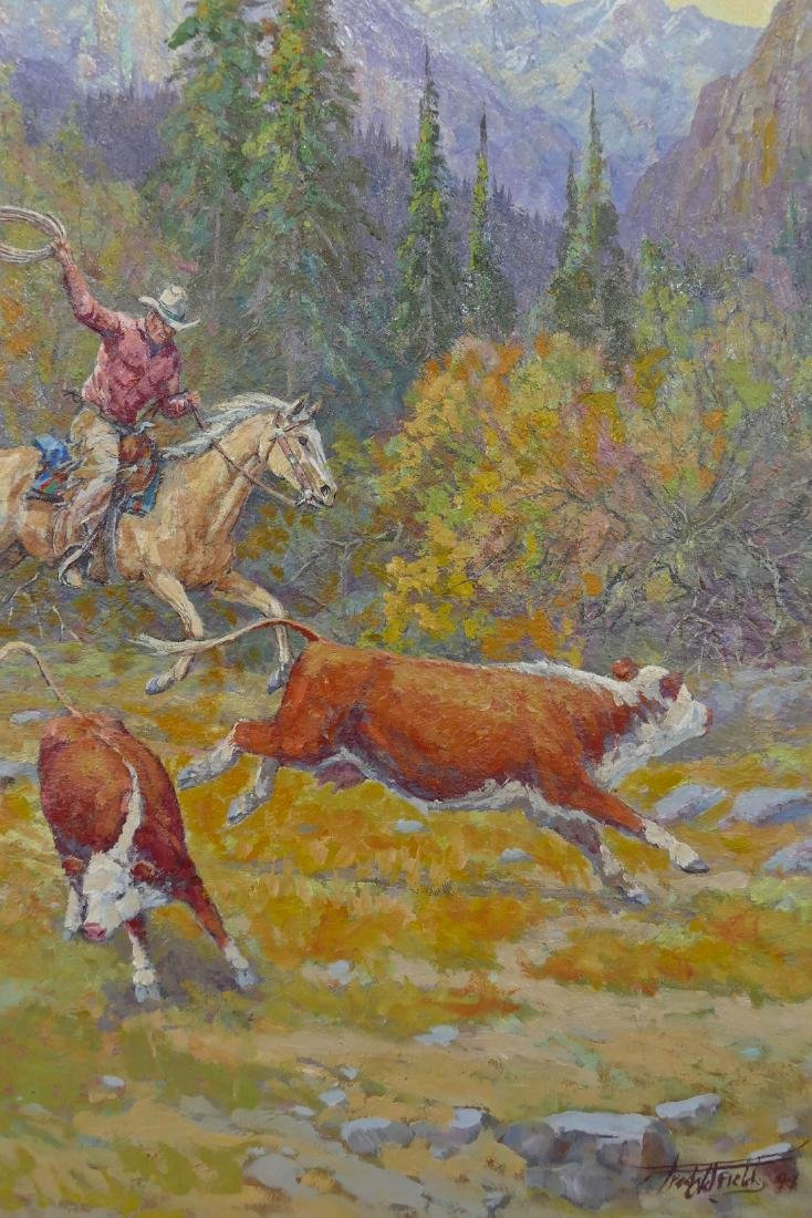 Fred Oldfield (1918-2017 Washington) Cowboy with Cattle - 3