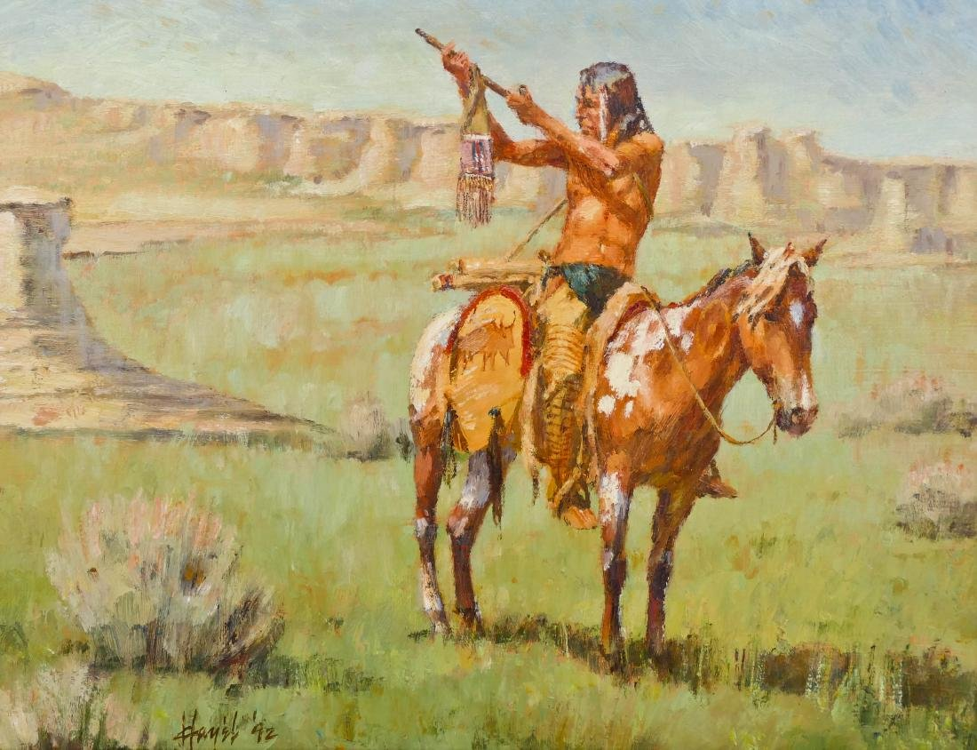 Frank Hagel (b.1933 Montana) ''Homage to Sun'' 1992 Oil