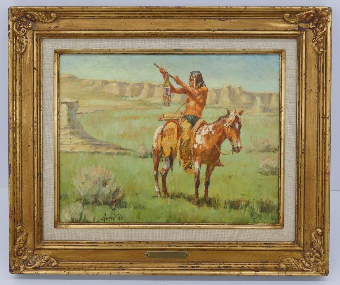 Frank Hagel (b.1933 Montana) ''Homage to Sun'' 1992 Oil - 2