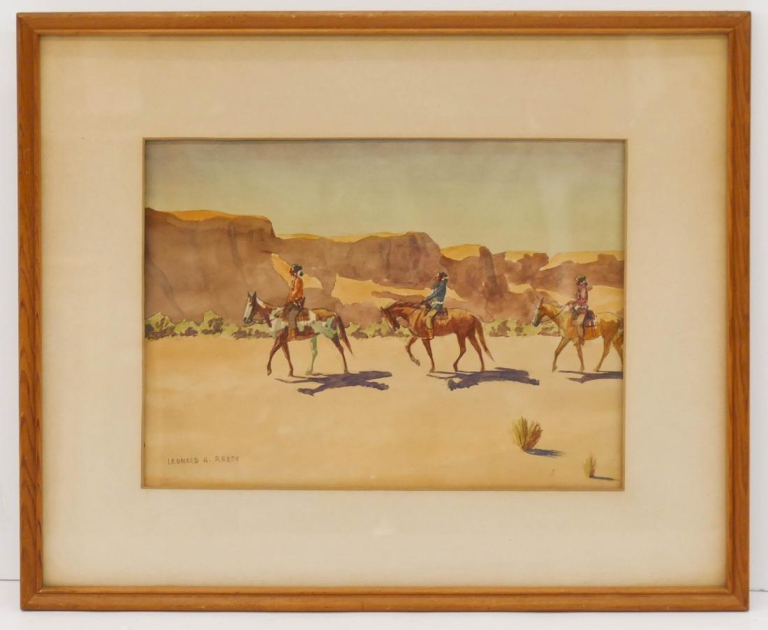 Leonard Reedy (1899-1956 Illinois) ''Navajo Riders'' - 3