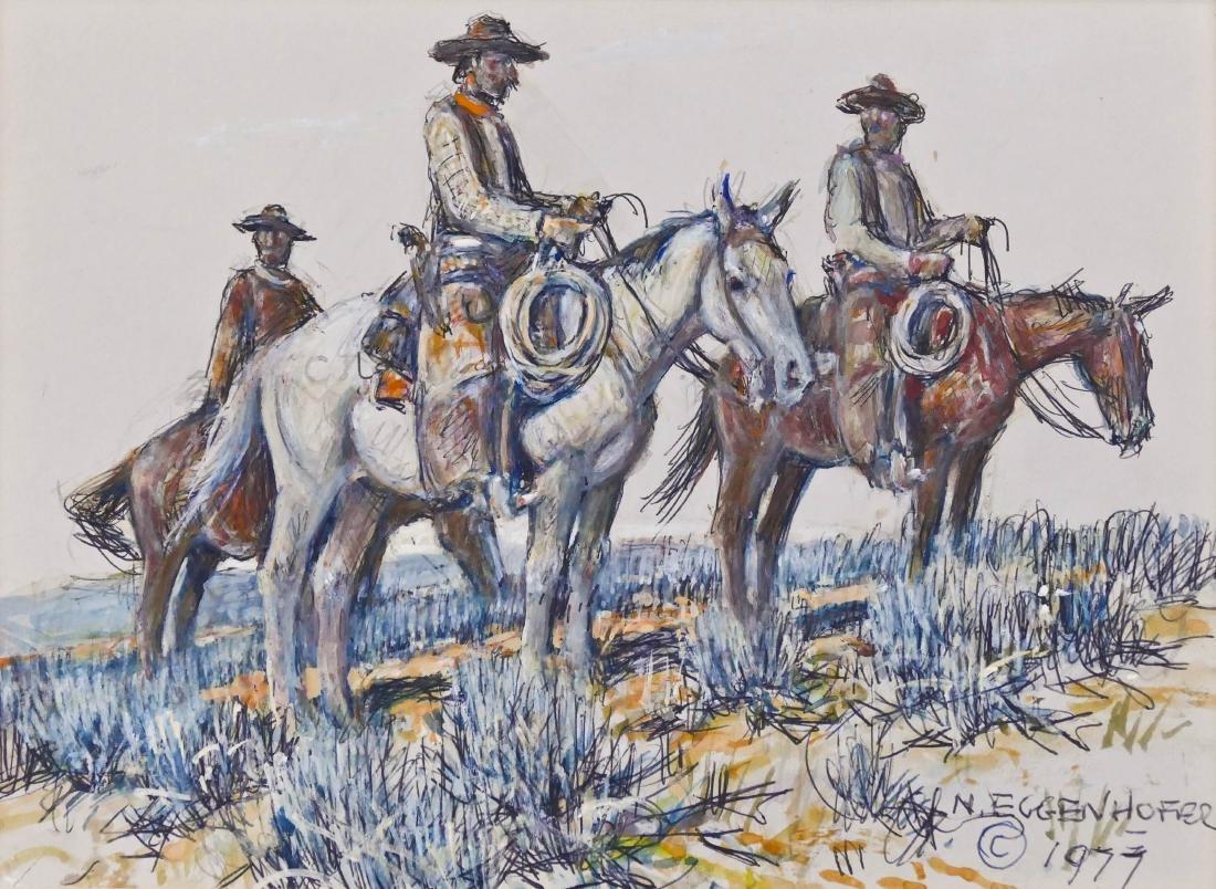 Nick Eggenhofer (1897-1985 Wyoming) Cowboys on