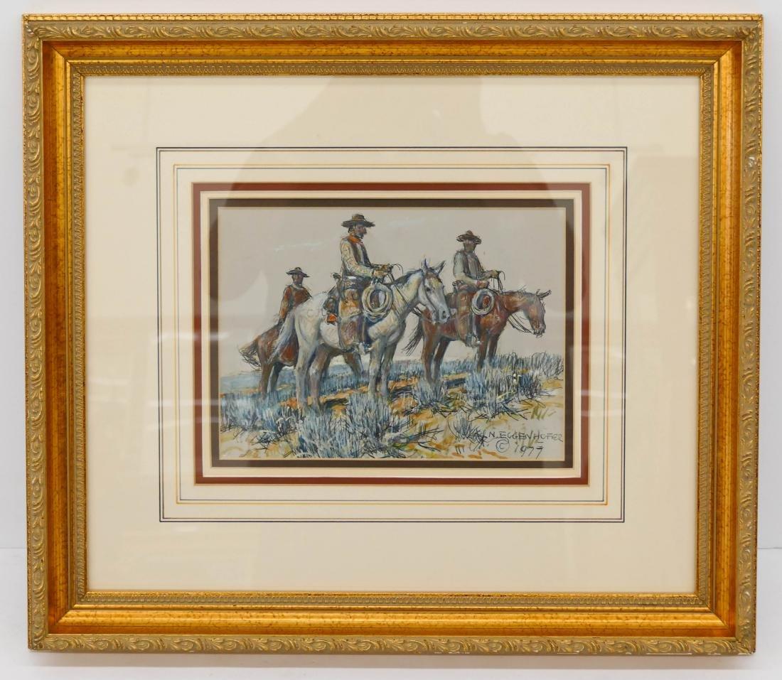 Nick Eggenhofer (1897-1985 Wyoming) Cowboys on - 2