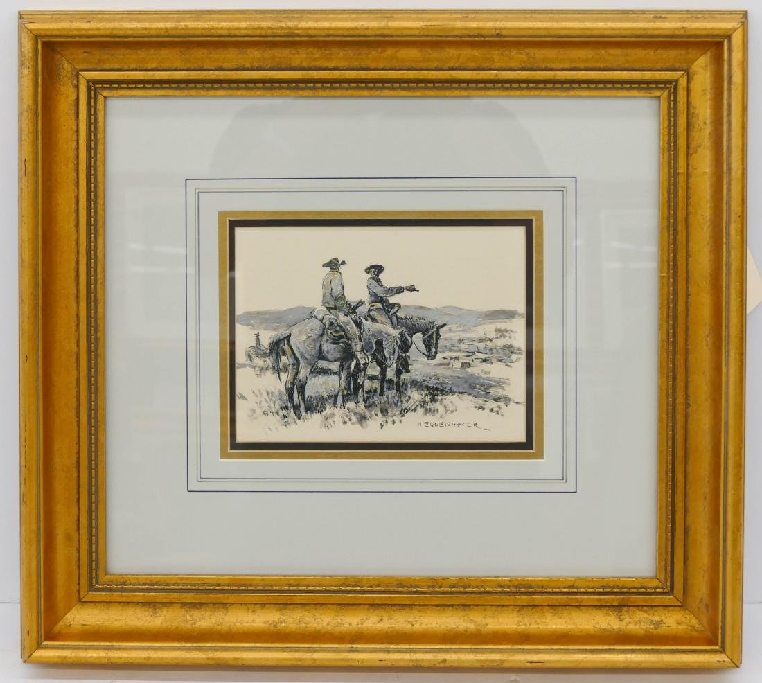 Nick Eggenhofer (1897-1985 Wyoming) Cowboy Drawing - 2