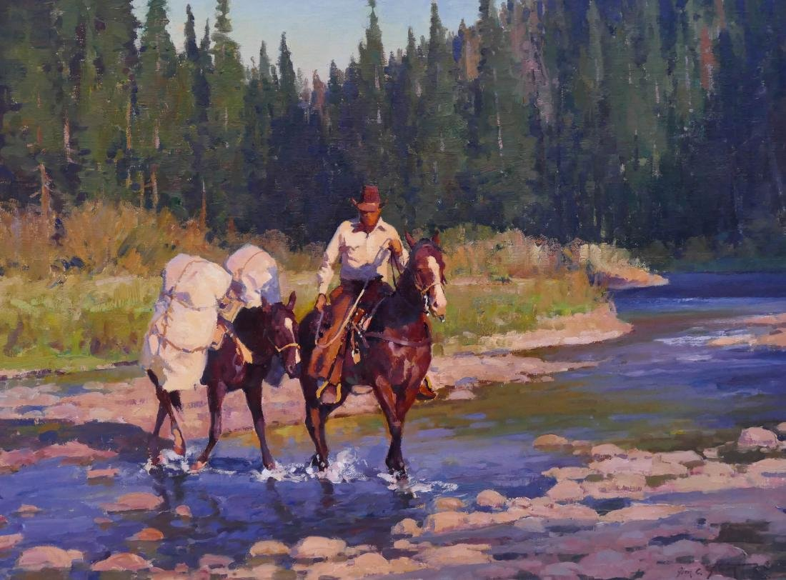 Jim Norton (b.1953 Utah) ''Evening Light'' Oil on