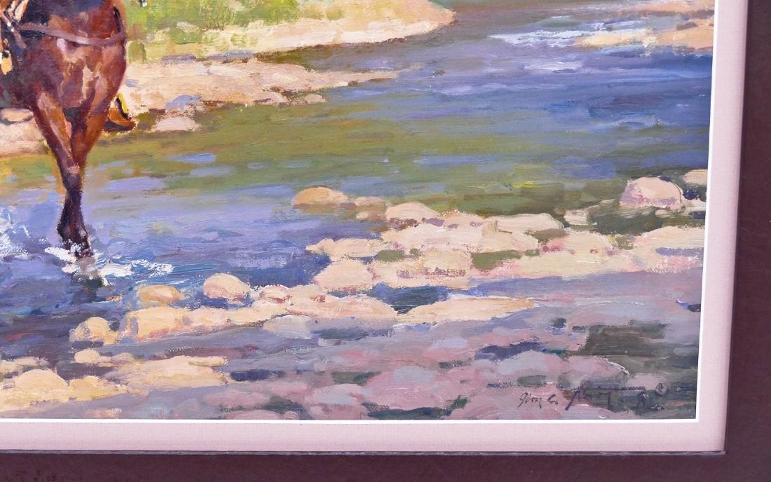 Jim Norton (b.1953 Utah) ''Evening Light'' Oil on - 2