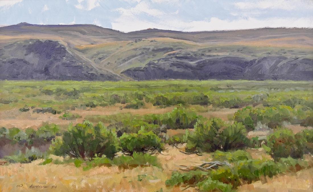 Clyde Aspevig (b.1951 Montana) ''The Greasewood Flats''