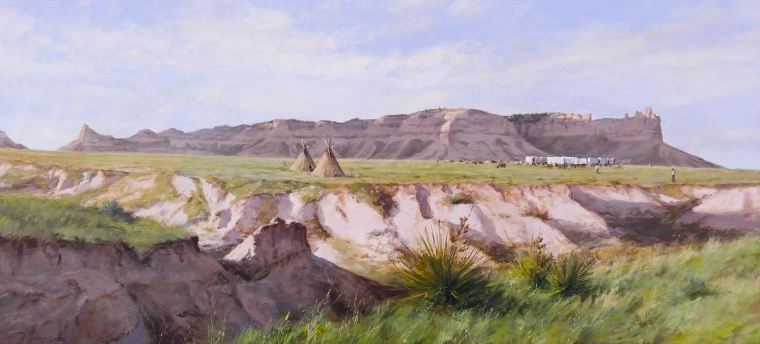 Don Gray (b.1948 Oregon) ''Camp at Scotts Bluff'' 1987