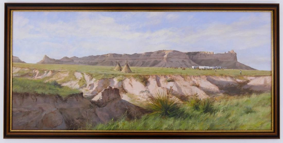 Don Gray (b.1948 Oregon) ''Camp at Scotts Bluff'' 1987 - 2
