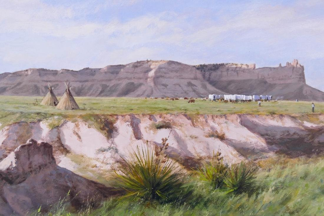 Don Gray (b.1948 Oregon) ''Camp at Scotts Bluff'' 1987 - 3