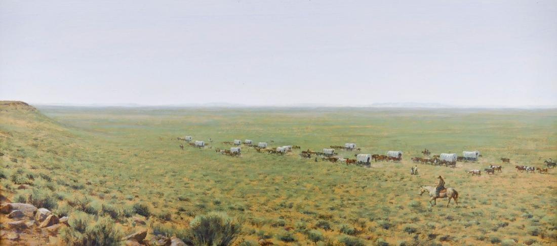 Don Gray (b.1948 Oregon) ''Across the Desert'' 1987
