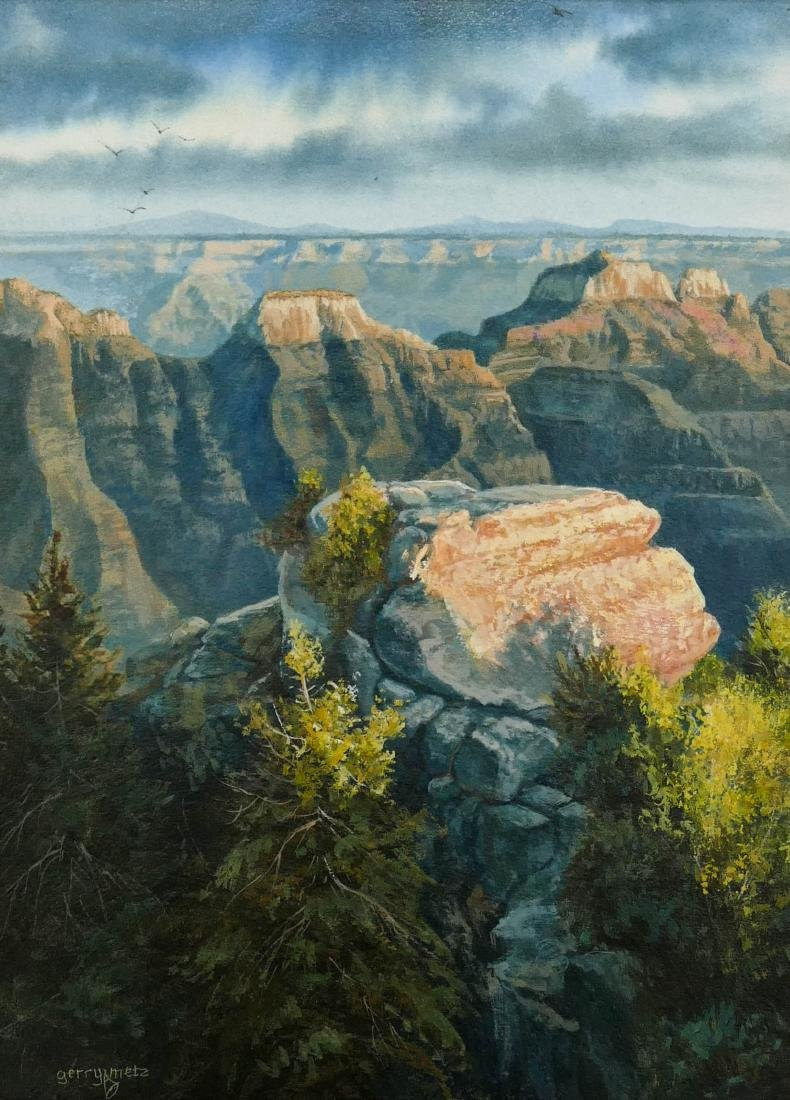 Gerry Metz (b.1943 Arizona) ''Evening Lite North Rim''