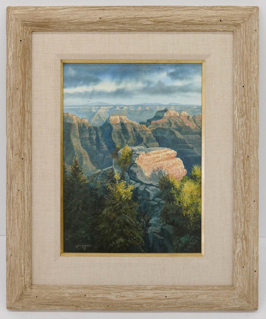 Gerry Metz (b.1943 Arizona) ''Evening Lite North Rim'' - 2