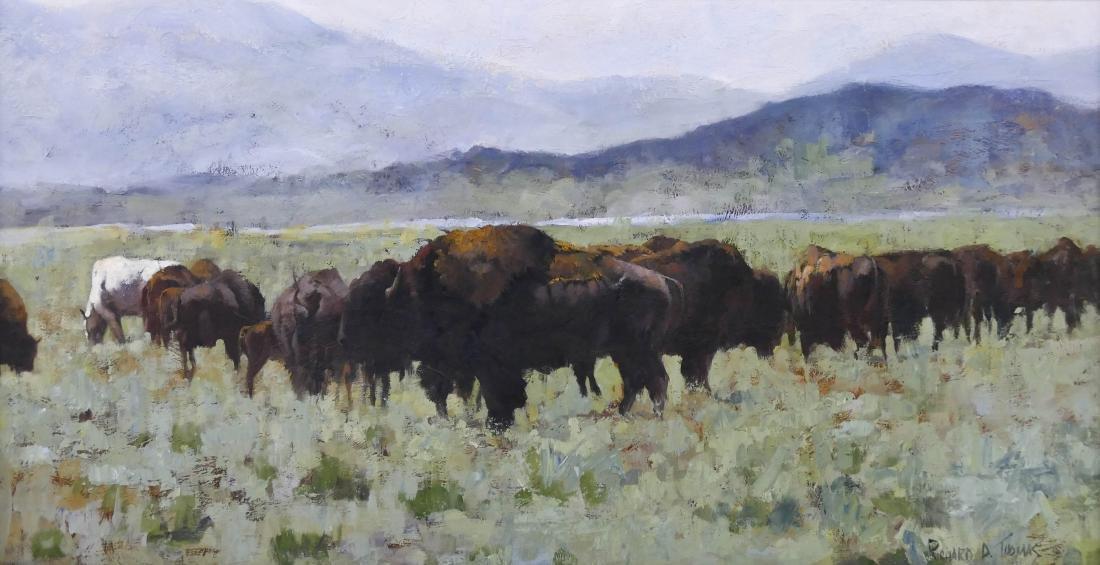 Richard D. Thomas (b.1939 Montana) ''Buffalo at South