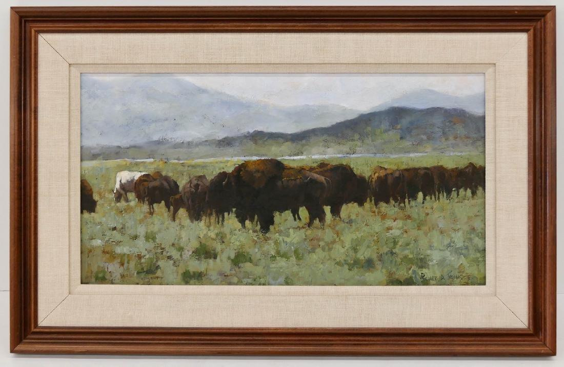 Richard D. Thomas (b.1939 Montana) ''Buffalo at South - 2
