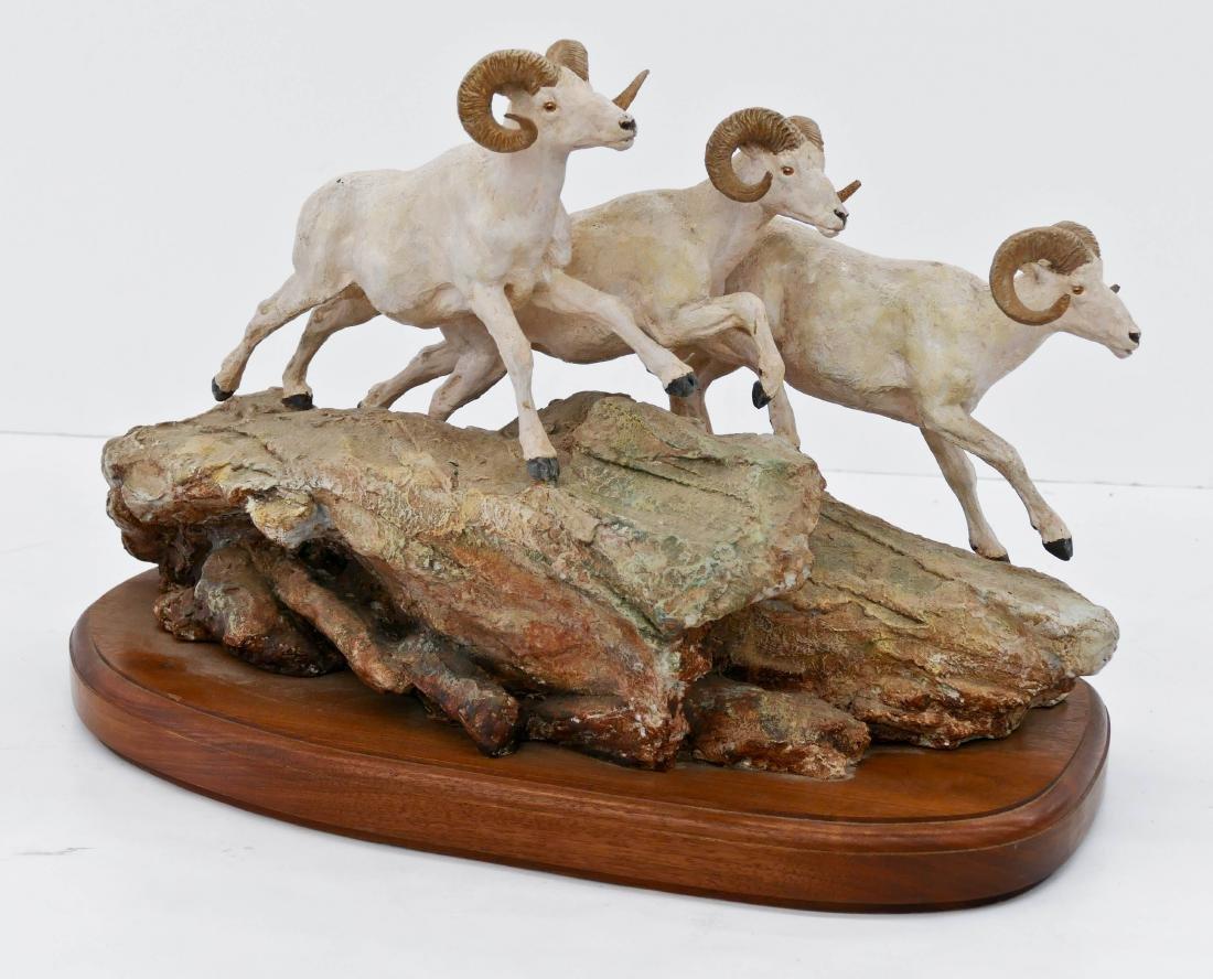 Joe Halko (1940-2009 Montana) Untitled Rams Patinated