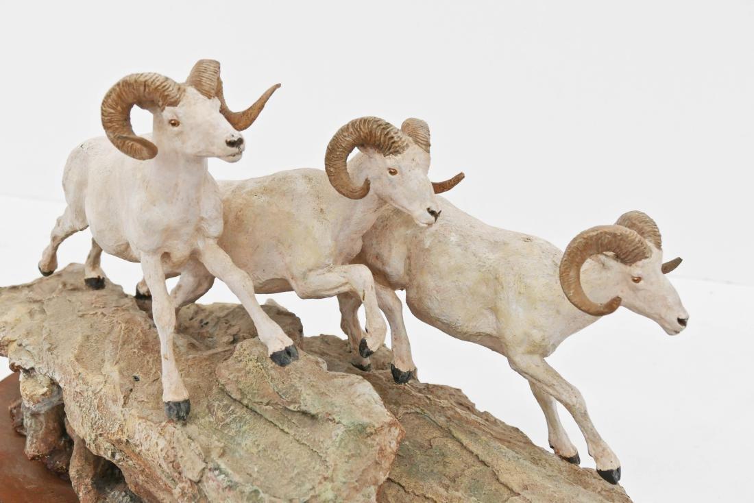 Joe Halko (1940-2009 Montana) Untitled Rams Patinated - 2