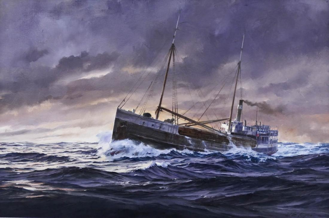 William E. Ryan (b.1936 Washington) ''Wapama'' 1979 Oil