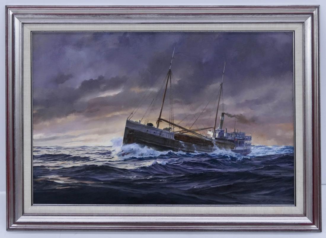 William E. Ryan (b.1936 Washington) ''Wapama'' 1979 Oil - 2
