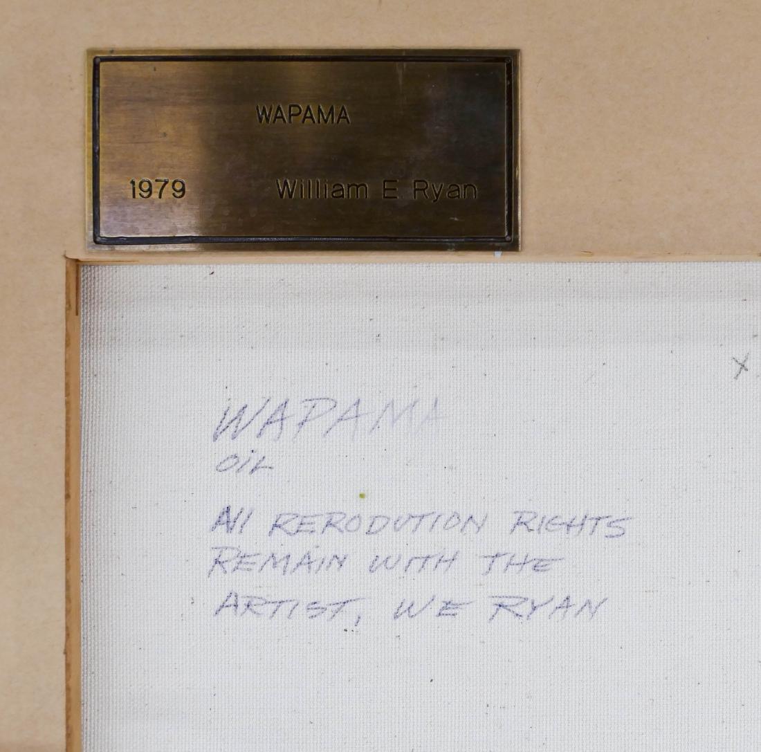 William E. Ryan (b.1936 Washington) ''Wapama'' 1979 Oil - 3