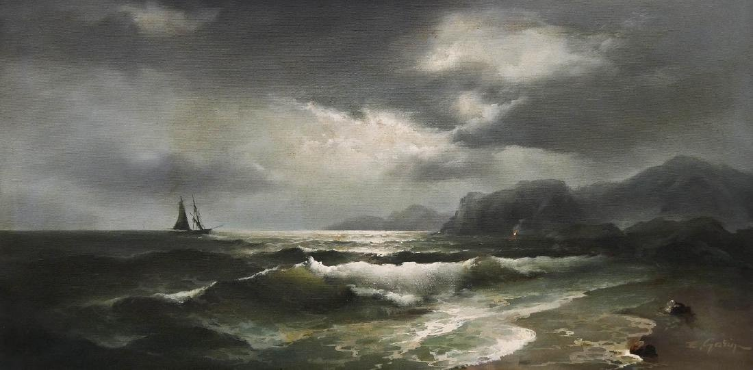 Eugene Garin (1922-1994 Russian) Untitled Seascape with