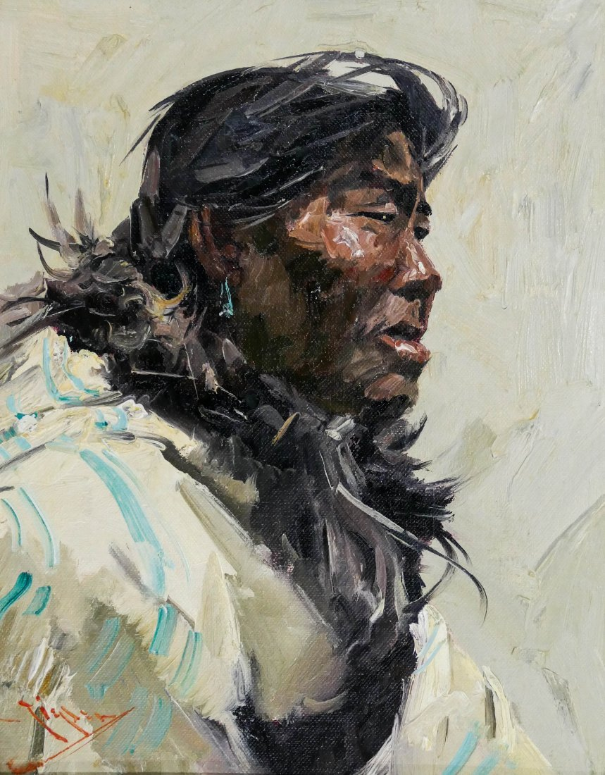 Eustace Ziegler (1881-1969 Washington) ''Eskimo'' Oil
