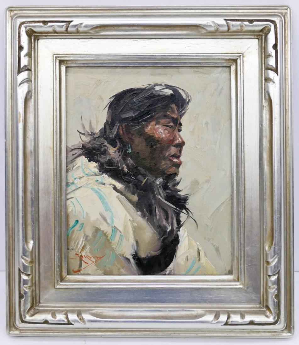 Eustace Ziegler (1881-1969 Washington) ''Eskimo'' Oil - 2