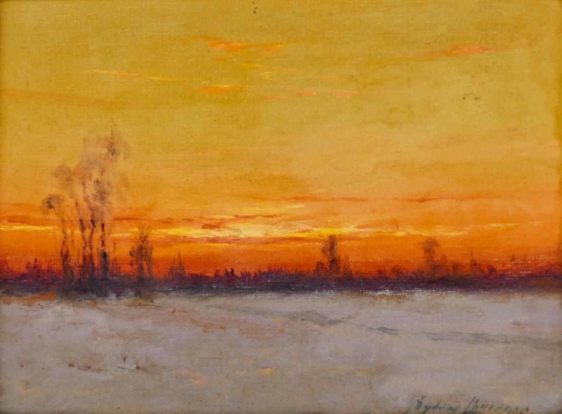 Sydney Laurence (1865-1940 Alaska) Sunset Landscape Oil