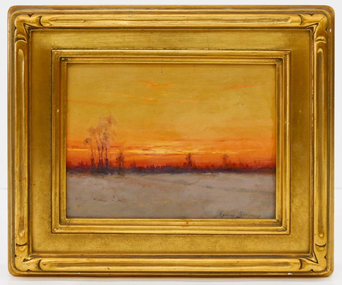 Sydney Laurence (1865-1940 Alaska) Sunset Landscape Oil - 2