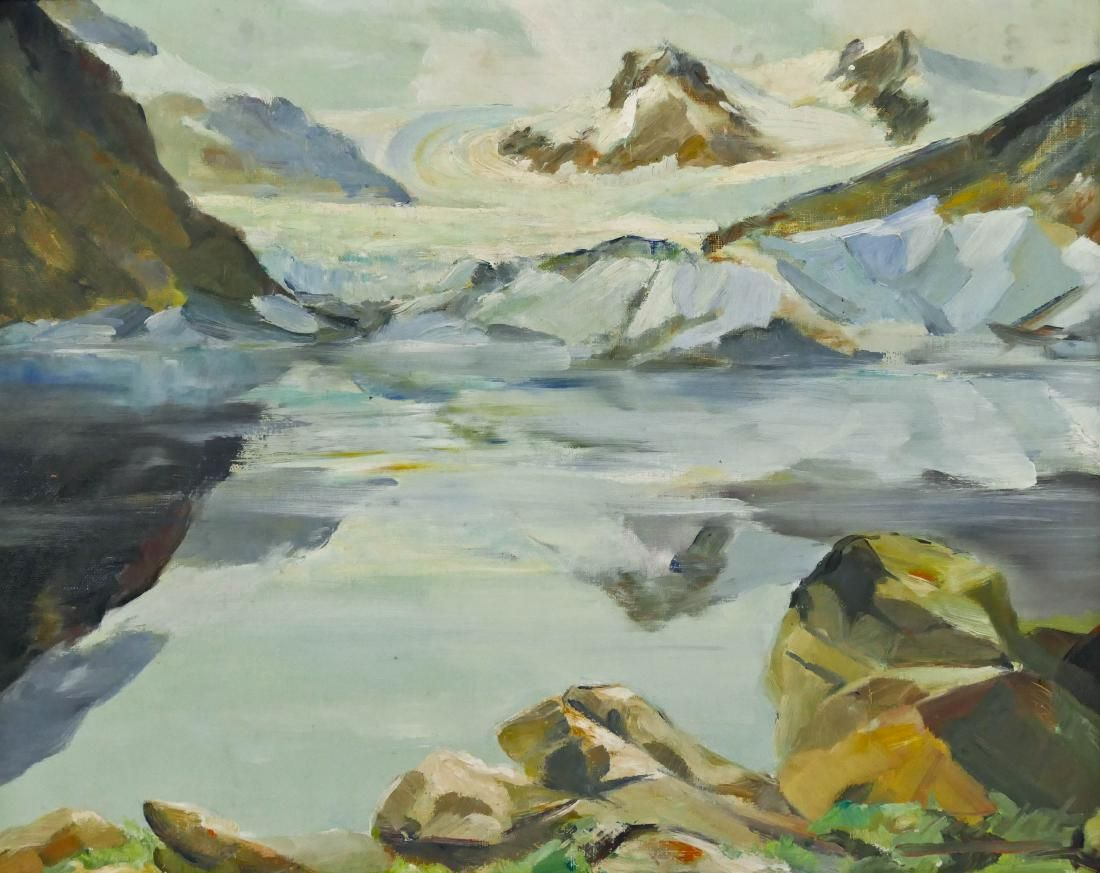 Harvey Goodale (1900-1980 Alaska) Early Alaskan