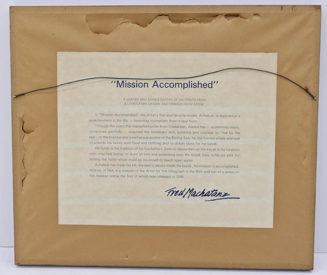 Fred Machetanz ''Mission Accomplished'' Stone - 3