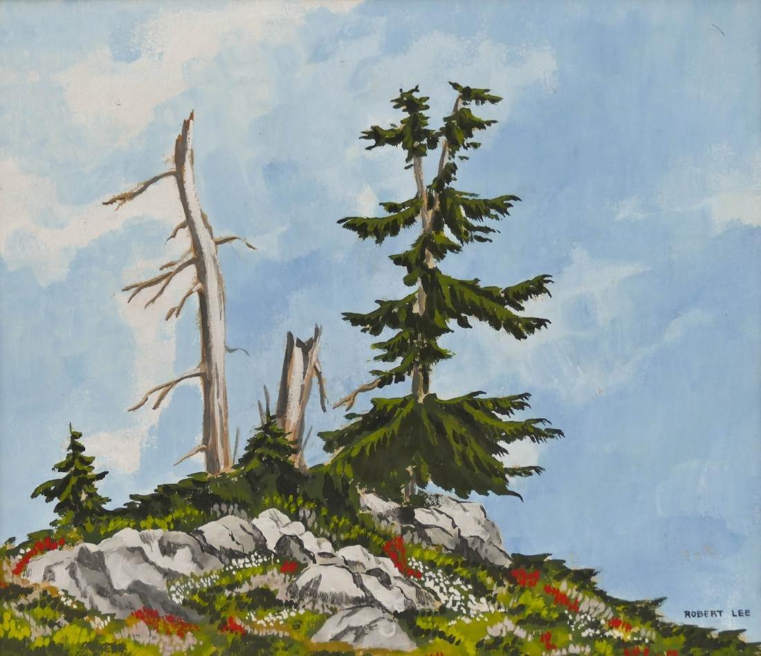 Robert Cranston Lee (b.1930 Washington) ''Snags - Mt.
