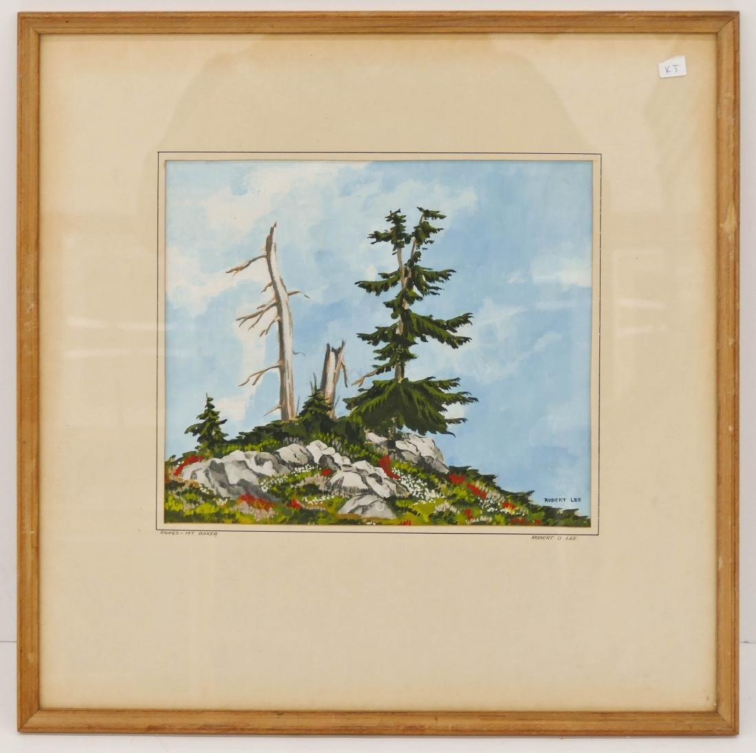 Robert Cranston Lee (b.1930 Washington) ''Snags - Mt. - 2